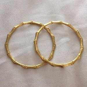 Kenneth Jay Lane Bamboo Bangles, pair